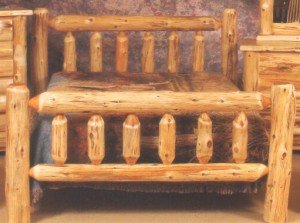 Northeastern Rustic Mount Timoney Collection Cedar Log Bed