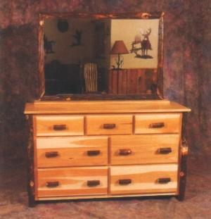Northeastern Rustic Katahdin Collection Hickory 7 Drawer Dresser