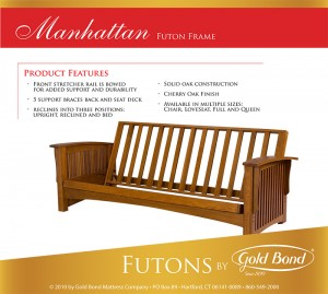 Gold Bond Manhattan Futon Frame