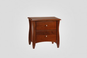 Night & Day Clove 2 Drawer Nightstand (Cherry)