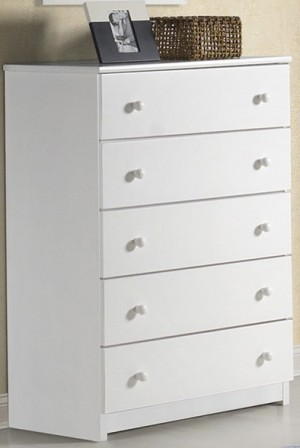 Innovations White 5 Drawer Chest