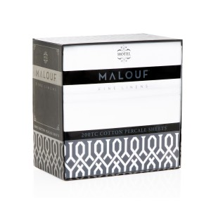 Malouf Woven™ 200 TC Cotton Percale Sheets