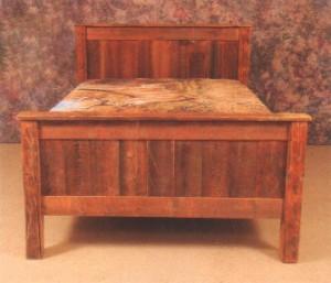 Northeastern Rustic Aroostock Collection Barnwood Solid Panel Bed