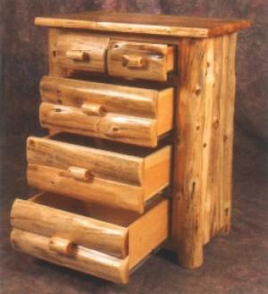 NE Rustic Mount Timoney Collection Cedar 5 Drawer Chest