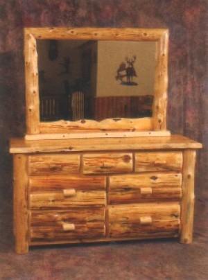 Northeastern Rustic Mount Timoney Collection Cedar 7 Drawer Dresser