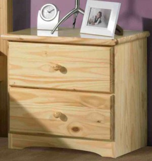 Ponderosa 2 Drawer Nightstand - Natural
