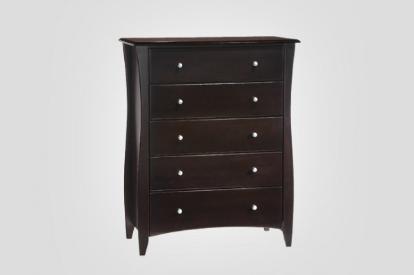 Night & Day Clove 5 Drawer Chest (Chocolate)