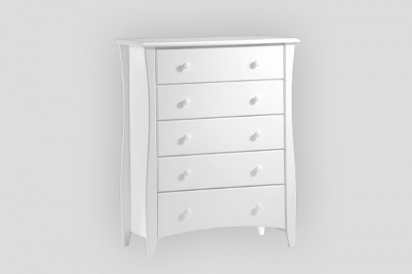 Night & Day Clove 5 Drawer Chest (White)