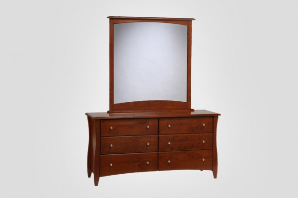 Night & Day Clove 6 Drawer Dresser (Cherry) & Mirror