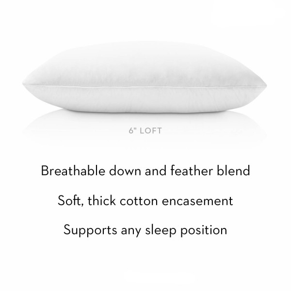 Malouf Z Cotton Encased Down Blend Pillow - Description