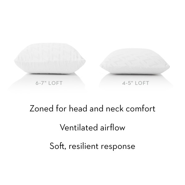 Malouf Z Zoned Talalay Latex Pillow - Description