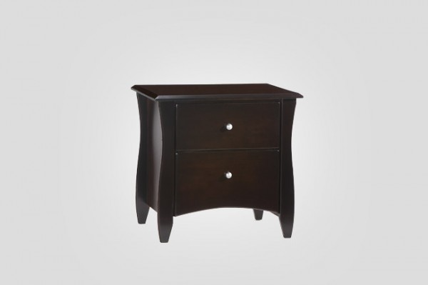 Night & Day Clove 2 Drawer Nightstand (Chocolate)
