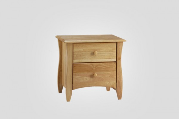 Night & Day Clove 2 Drawer Nightstand (Natural)