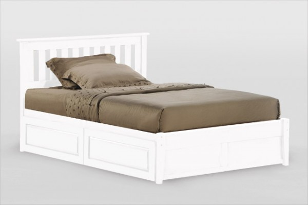 Night & Day Rosemary Platform Bed (White)