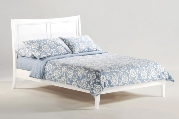 Night & Day Saffron Platform Bed (White)