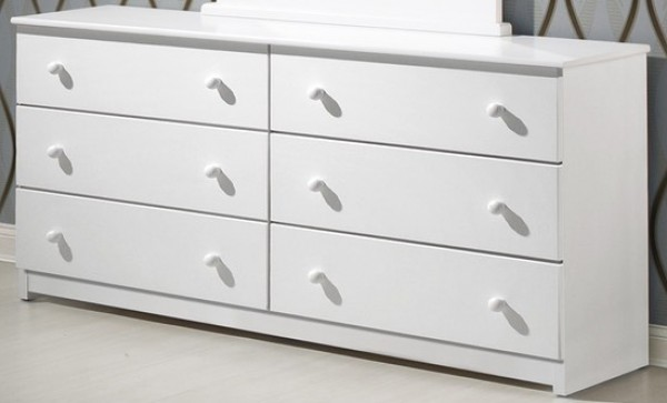 Innovations White 6 Drawer Dresser