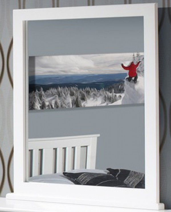 Innovations White Landscape Mirror
