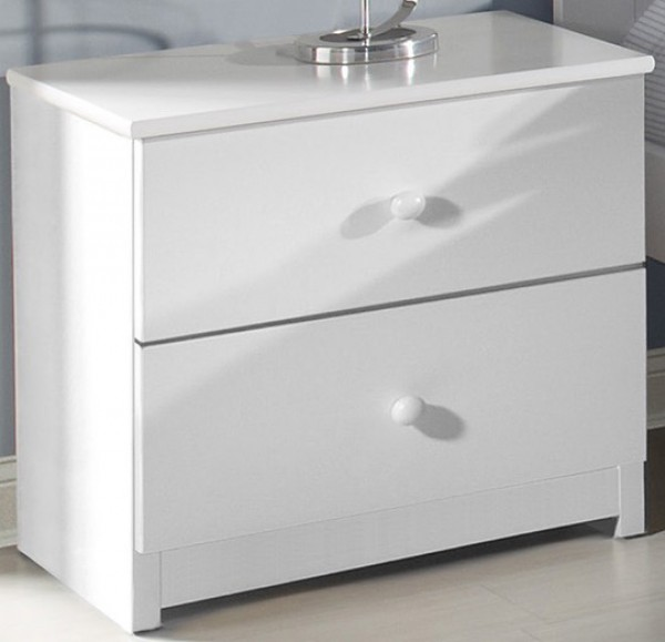 Innovations White 2 Drawer Nightstand